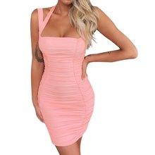 Sexy Bodycon Tank Dress Low Neck Vestidos 2019 Womens Casual Summer