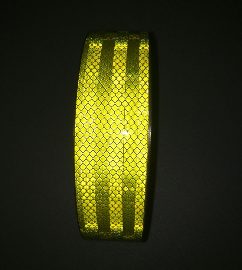 5CM 45M Self adhesive PET Reflective Tape Warning Safety Strip For Truck Car Motorcycle Supestrong Grade