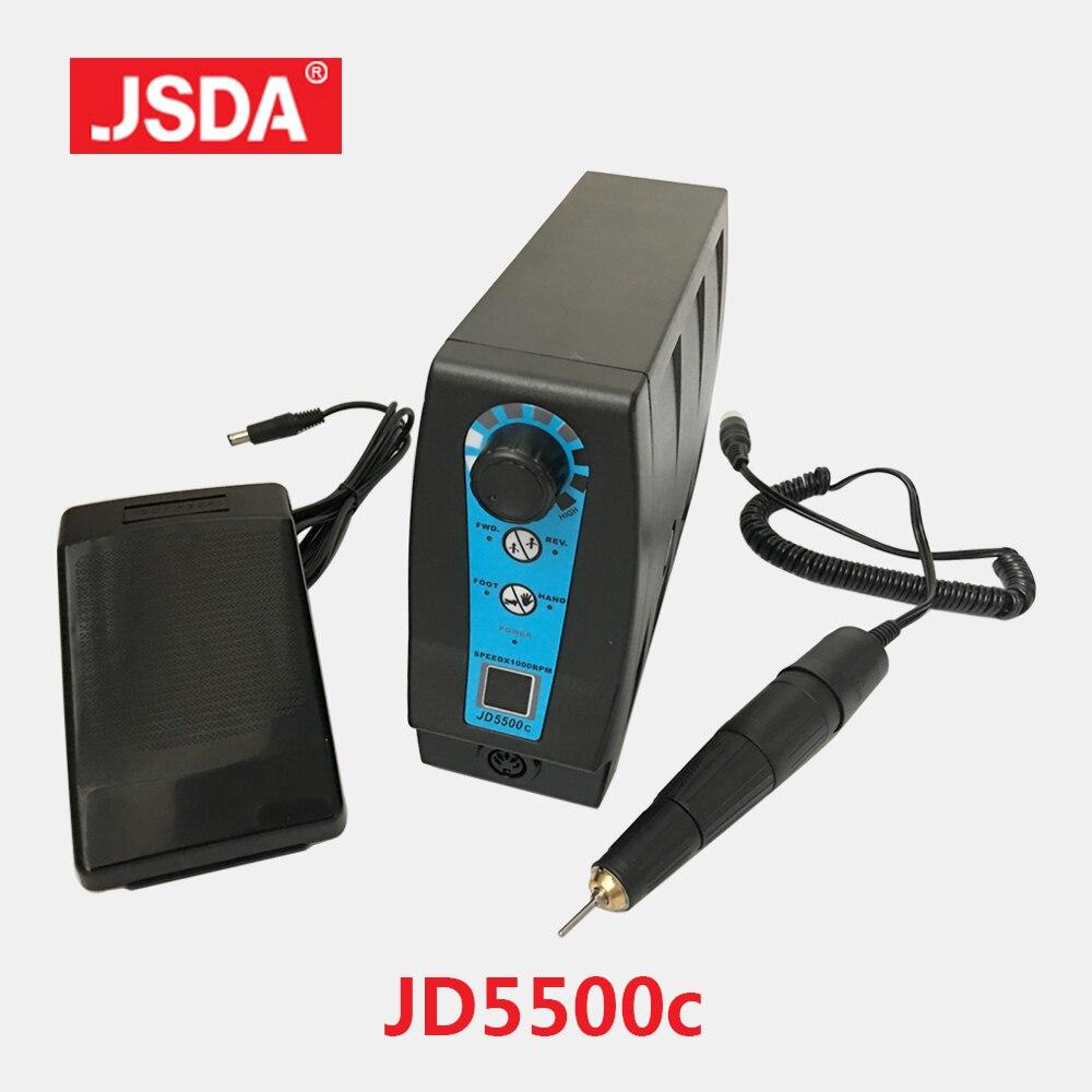 JSDA 35000RPM 120W Electric Nail Broca Pedicure Manicure Máquina de Trituração Micro Grinder Elétrico Dentadura Polimento Brocas Do Prego