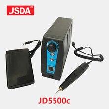 JSDA 35000RPM 120W elektryczna wiertarka do paznokci Pedicure Manicure frezarka Micro elektryczny młynek protezy pierścienie ścierne wiertła