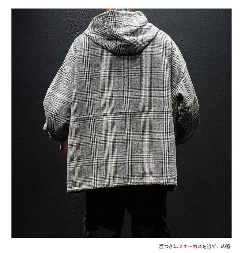 Korean Trench Coat Men Overcoat Hood Slim Fit (7)