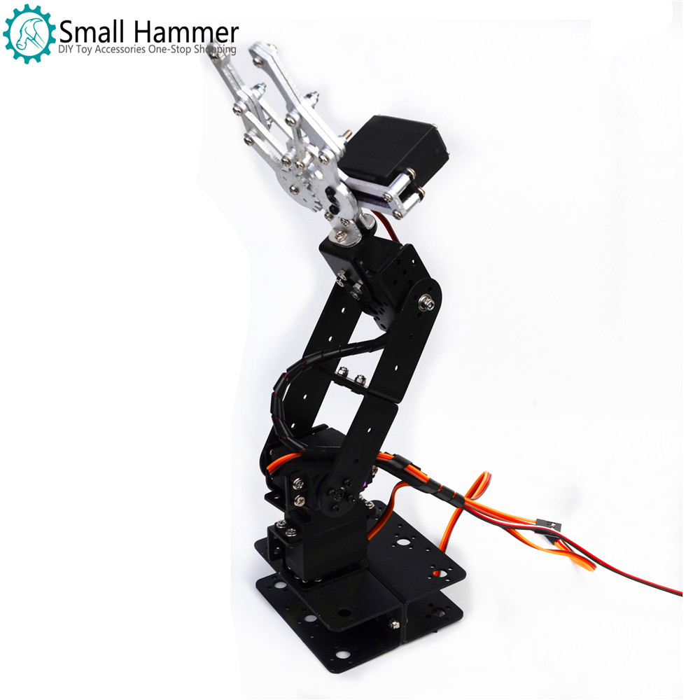 Aluminum Alloy Arduino 4 DOF Manipulator Steering Gear Bracket Mechanical Paws DIY Robot Parts