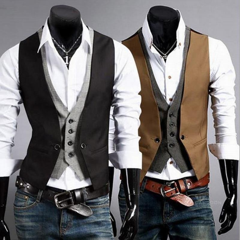 abetteric spring autumn abetteric waistcoat causal slim sleeveless formal coat business suit. Black Bedroom Furniture Sets. Home Design Ideas