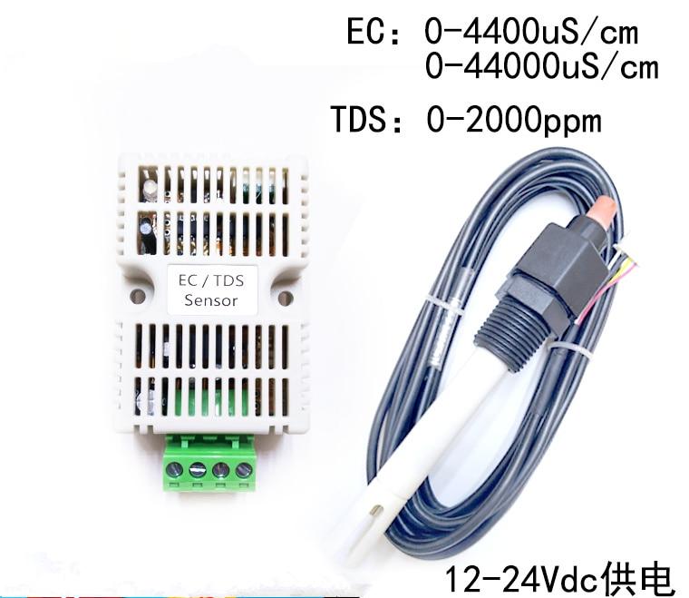 12-24 V alimentation 485 eau de mer EC transmetteur TDS capteur EC Module 4-20ma Modbus 485 conductivité TDS0-5V 0-10 V EC/TDS capteur