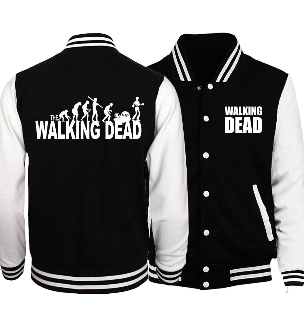 2019 Spring Hot Sale The Walking Dead Baseball Jackets Men Coat Casual Men's Jacket Hoodies Brand Slim Fit Men Sportswear S-5XL