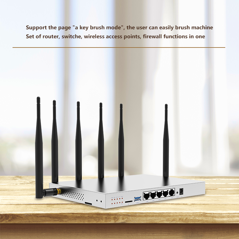 3g 4g lte router with pcie card 1200Mbps 512Mb dual band 2 4G 5GHz wifi antenna