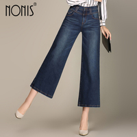 Nonis Nonis Plus Size 26 33 Women High Quality Wide Leg Jeans Ladies Fashion Big Straight Denim trousers Boot Cut pants