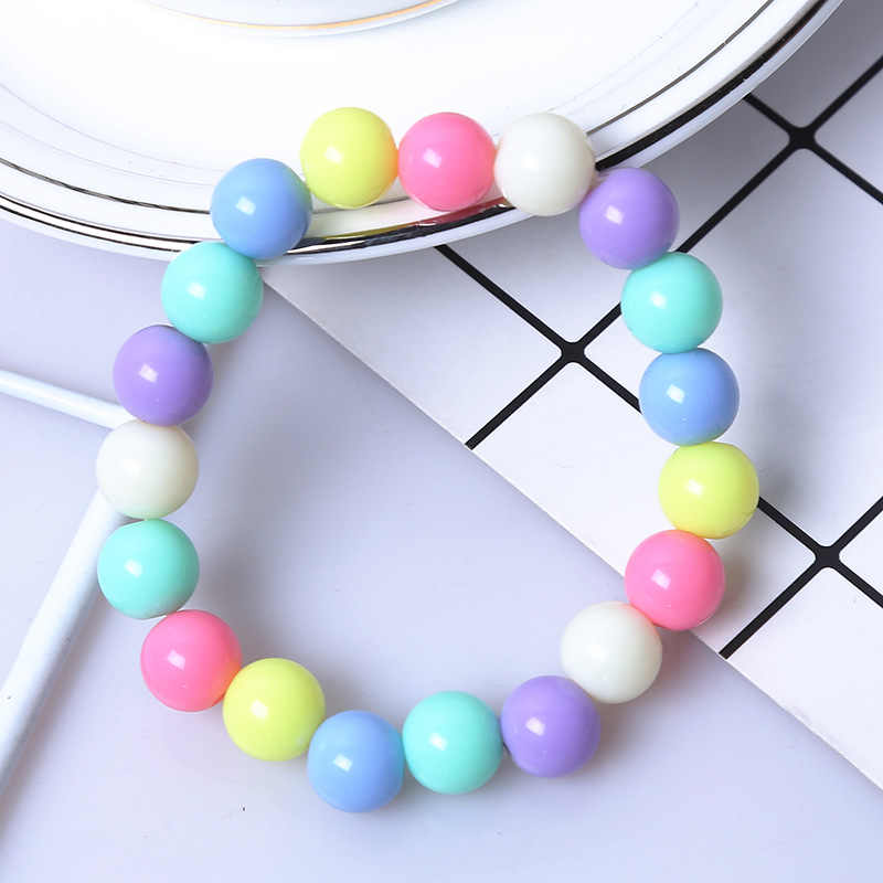 Moda śliczne cukierki kolor akryl 8mm 10mm 12mm prezent z koralików dla dzieci bransoletki księżniczka dziewczynka biżuteria akcesoria dla dzieci