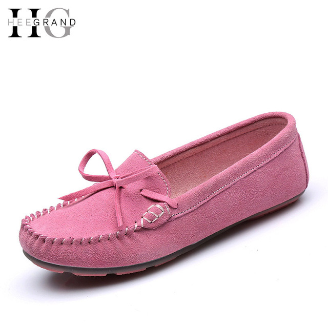 HEE GRAN Gamuza Holgazanes Ocasionales Suaves Zapatos de Mujer Madre Mocasín Plataforma Creepers Slip On Pisos Zapatos Cómodos de Las Mujeres XWD4388