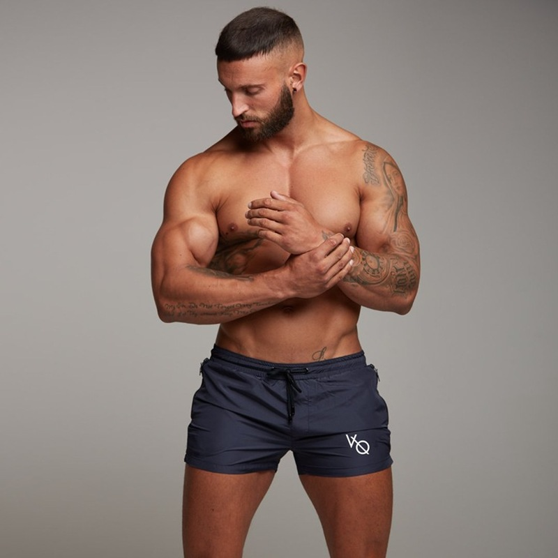 Europe and the United States summer new muscle men quick drying casual sweatpants fitness running training slim shorts shorts in Casual Shorts from Men 39 s Clothing