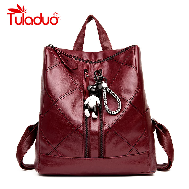 New Backpacks Women PU Leather Bag Women Youth Bags Small Women Backpack Mochila Feminina School Backpacks For Teenage Girls children school bag minecraft cartoon backpack pupils printing school bags hot game backpacks for boys and girls mochila escolar