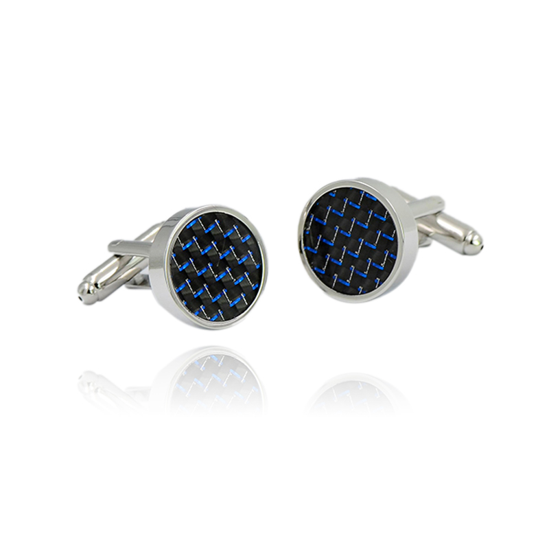 Novelty Luxury Blue Metal Cufflinks For Mens Lepton Brand High Quality Crystal Silver Cuff-button Shirt Flower Patter Cuff Links