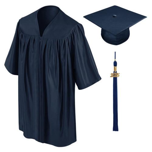 2017 Unisex Brillante Vestido De Graduación y Casquillo Para Kindergraden Académico de La Escuela Vestido de Uniforme