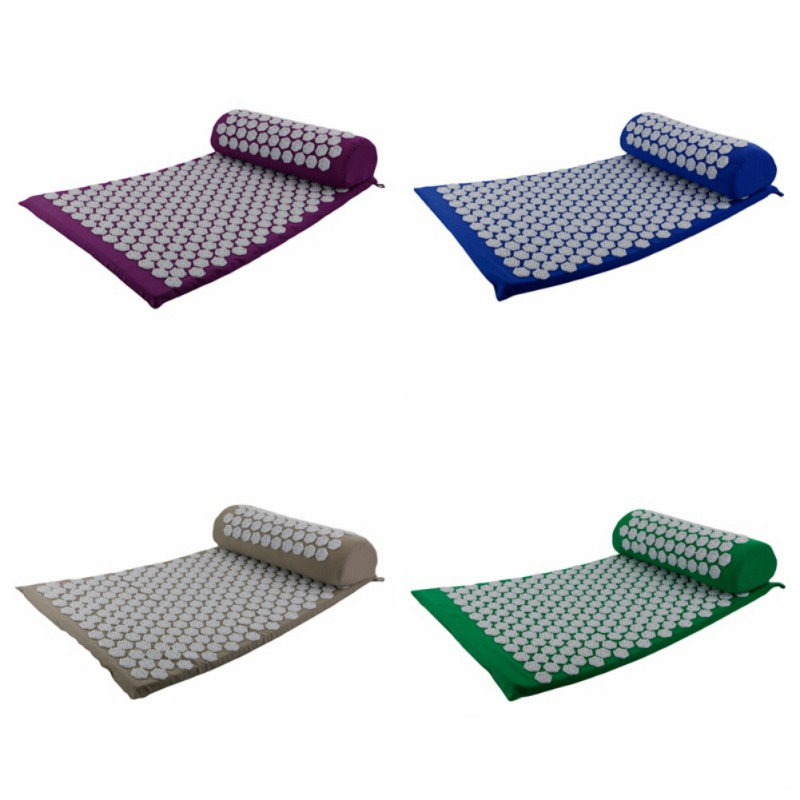Acupressure massages mat which relieves stress and body pain including back neck and foot 5