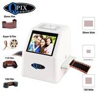 Drop Shipping Super High Resolution Digital 110 135mm Film Scanner Slide Scanner With 2 36 TFT