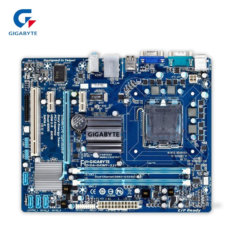 Gigabyte GA-G41MT-S2P Original Used Desktop Motherboard G41MT-S2P  G41 LGA 775  DDR3 8G SATA2 USB2.0 Micro-ATX original motherboard ga g41mt s2 lga 775 ddr3 g41mt s2 8gb fully integrated g41 free shipping