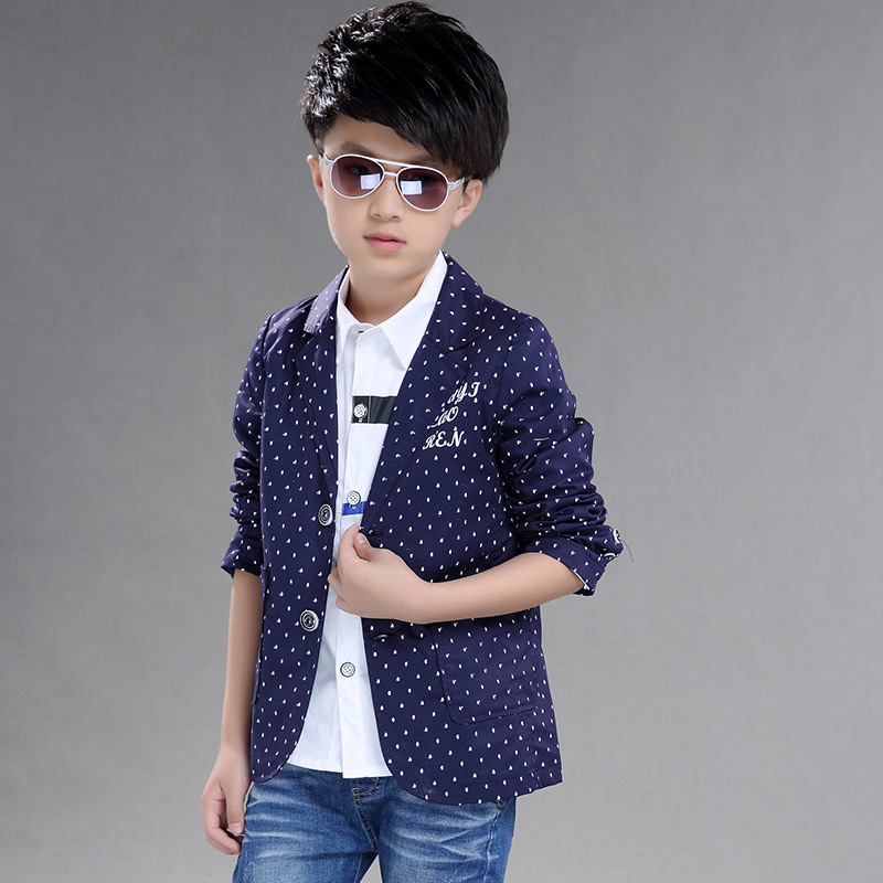 bbb9c04b1 Autumn Boys Outerwear 3 5 7 9 11 12 Years Full Sleeve Cotton Jackets For  Boys Dot Clothing Children Casual Suits School Uniform-in Jackets & Coats  from ...
