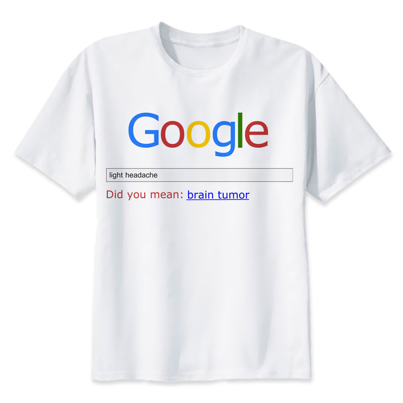Google TShirt men boy Summer O Neck white youth   t     shirt   casual white print anime   t  -  Shirts   men top tees MR1375