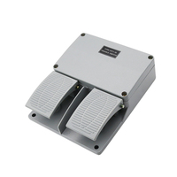 New Foot switch YDT1 16 aluminum shell gray double pedal switch machine tool accessories switch