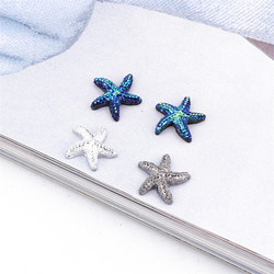 10pcs Small Starfish Resin Crafts Patch Charms Earring Findings Phone Case Fridge Sticker Micro Landscape Decor Diy Jewelry Make