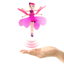 Fairy Helicopter Drone RC Ball Magic Shinning Luminous LED Lighting for Kids Infrared Induction Aircraft Flying Toys