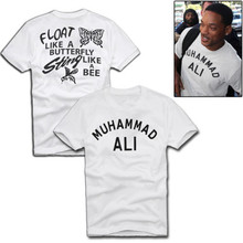 New Fashion MUHAMMAD ALI Men's T Shirt Graphic Letter Printed Cotton White Basic Top Tee Shirt Front And Back Printing S-2XL