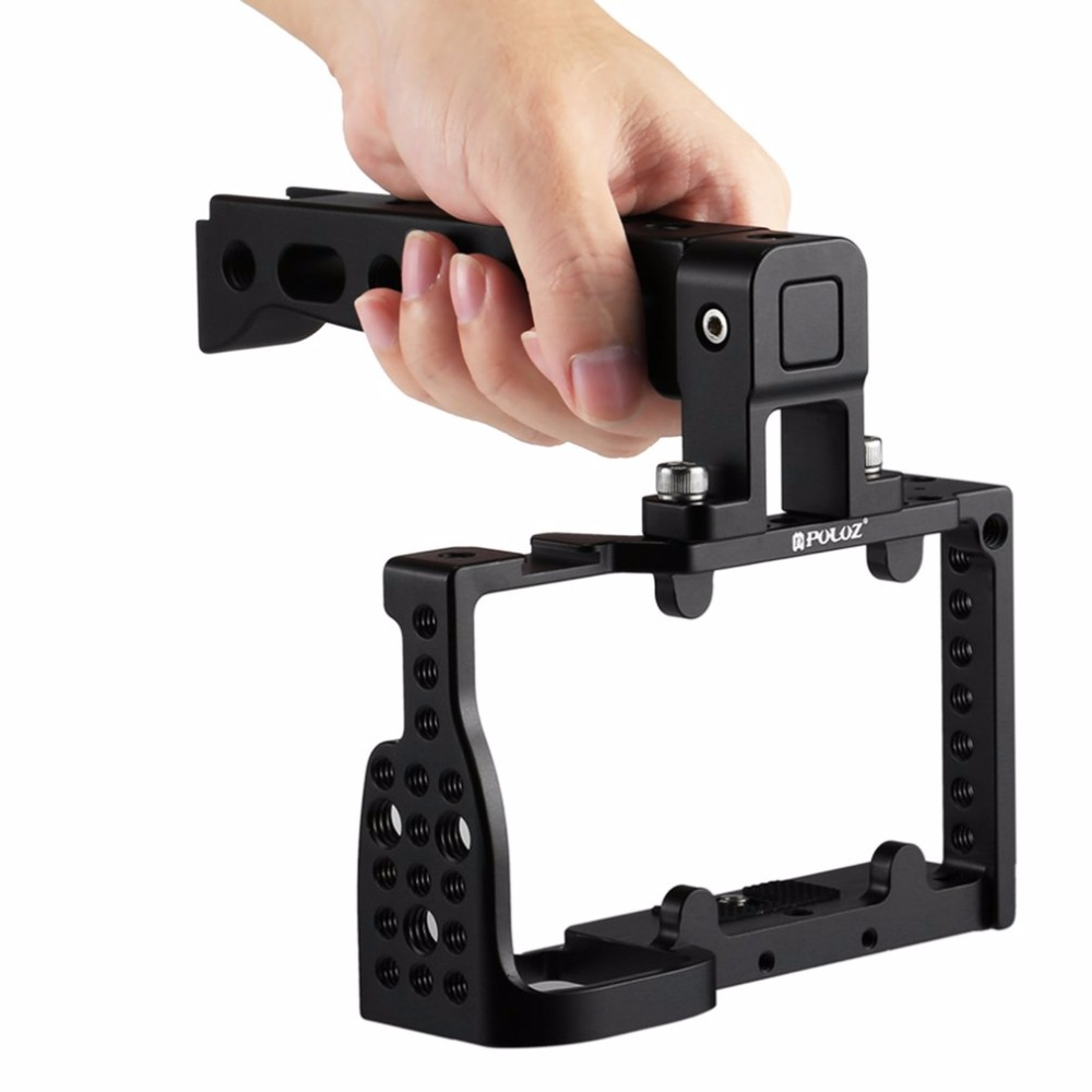 PULUZ Lightweight Aluminum Alloy Video Camera Cage Video Movie Stabilizer for Sony A6300/A6000 цена и фото