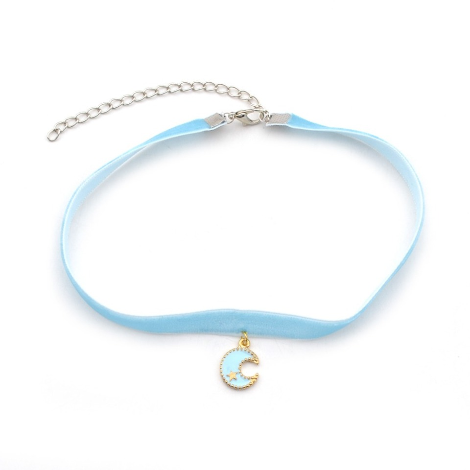 Cosplay Sailor Moon Necklace Lolita Harajuku Moon Pendant Choker Gift Adjustable
