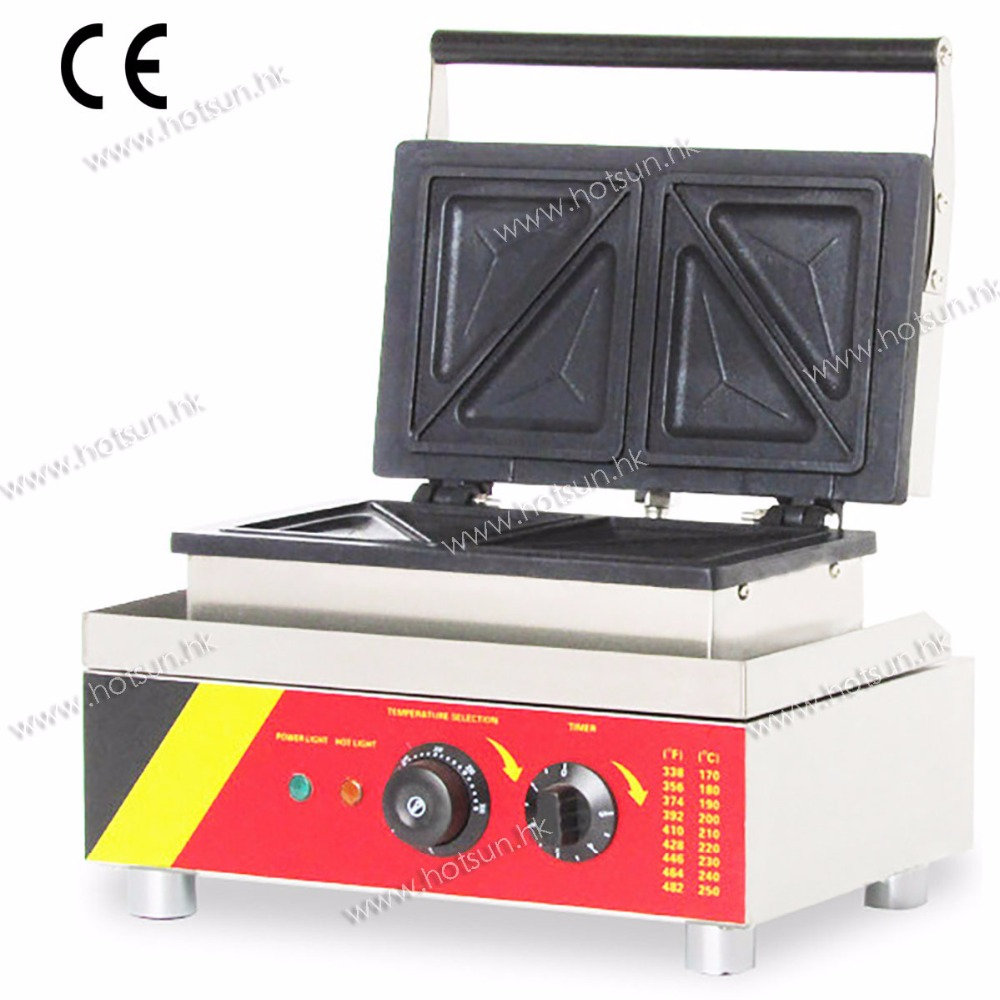 Commercial 110V 220V Electric Sandwich Toaster Waffle Press Maker Machine Baker Grill cukyi commercial waffle sandwich maker sandwich maker machine sandwich maker toaster sandwich panel machine