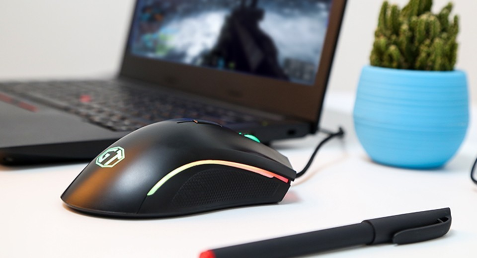 delux m625 mouse, gaming mouse, rgb mouse, fully programmable mouse