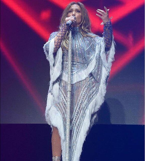Women Celebrity Stage Sequined Fringe Tippet <font><b>Dress</b></font> Singer Dance Stage Costume Female Tassels <font><b>Dresses</b></font> Cape Poncho Clothing <font><b>DJ</b></font> DS image