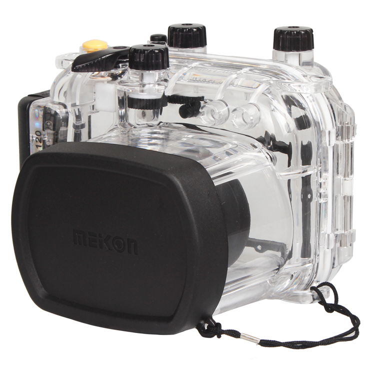 Waterproof Underwater Housing Camera Diving Case for Canon Powe shot G11 12 Lens WP-DC34 meikon 40m 130ft waterproof housing case for canon g11 g12 as wp dc34 camera underwater diving bags case for canon g11 g12
