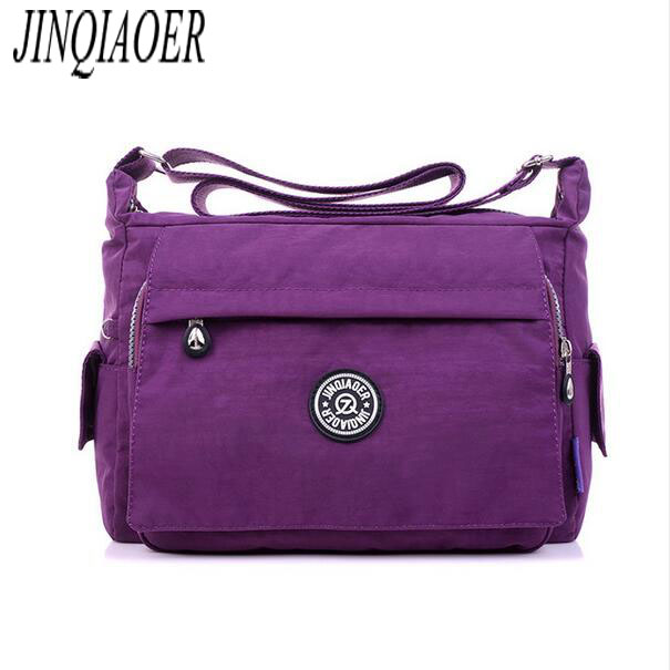 JINQIAOER Women Messenger Bags Waterproof Nylon Handbag Female Shoulder Bag Ladies Crossbody Bags bolsa sac a main femme de 165 women messenger bags waterproof nylon crossbody bags for women shoulder bags travel handbags sac bolsa purse female handbags