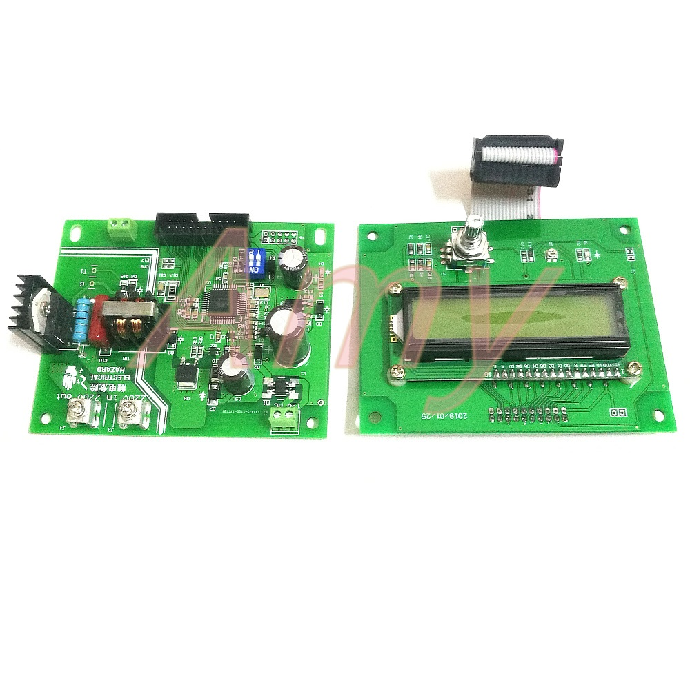 JST41-1200 Battery spot welding control board 16 single chip microcomputer control 1602 MCU LCD encoder double pulse