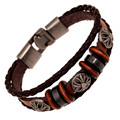 Punk Rock Pulseira de Couro Masculina Pulceras Mujer Pulseras Hombre Hip Hop Leather Men Braclet Male Friendship Bracelet LB064