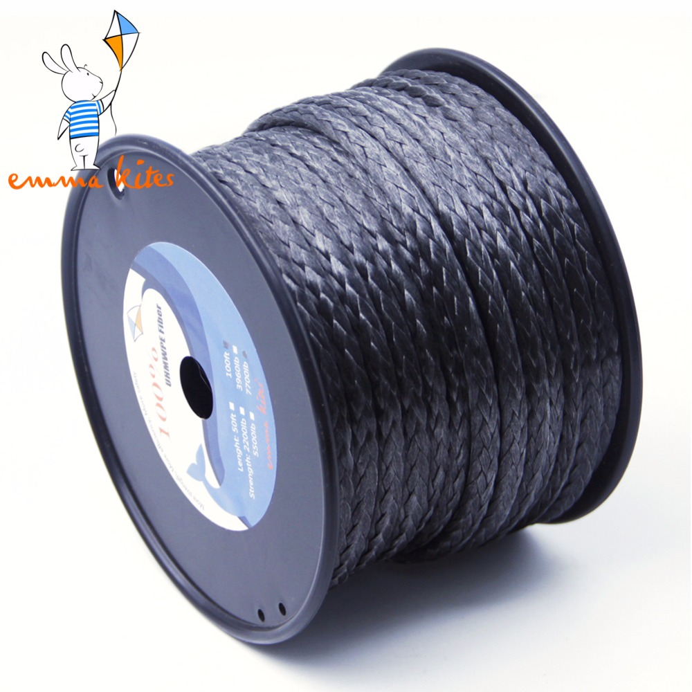 Outdoor Kiteboarding Braided Line 6mm Diameter UHMWPE Material 7700lbs Safety Rope For Rescue Survival free shipping 500m 4250lb sailboat rope extreme strong 4 5mm uhmwpe braided wire