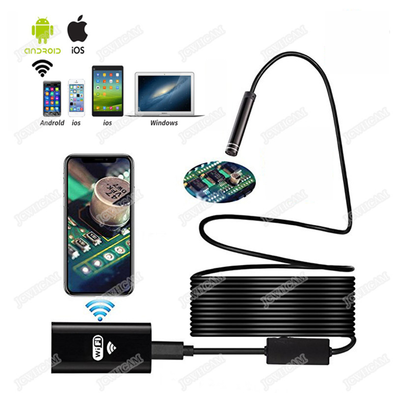 Wifi Endoscope Camera 1/3/5/7/10m Soft cable 8mm HD 720P For IOS Android Phone Borescope Mini Camera Pipe PCB Car InspectionWifi Endoscope Camera 1/3/5/7/10m Soft cable 8mm HD 720P For IOS Android Phone Borescope Mini Camera Pipe PCB Car Inspection