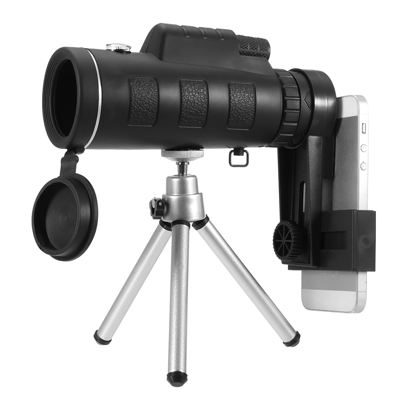 Universal 35X50 Zoom Monoculaire Télescope Lentille Optique Armoring Téléphone Camera Lens Clip pour Téléphones Intelligents Ouedoor D'observation Camping