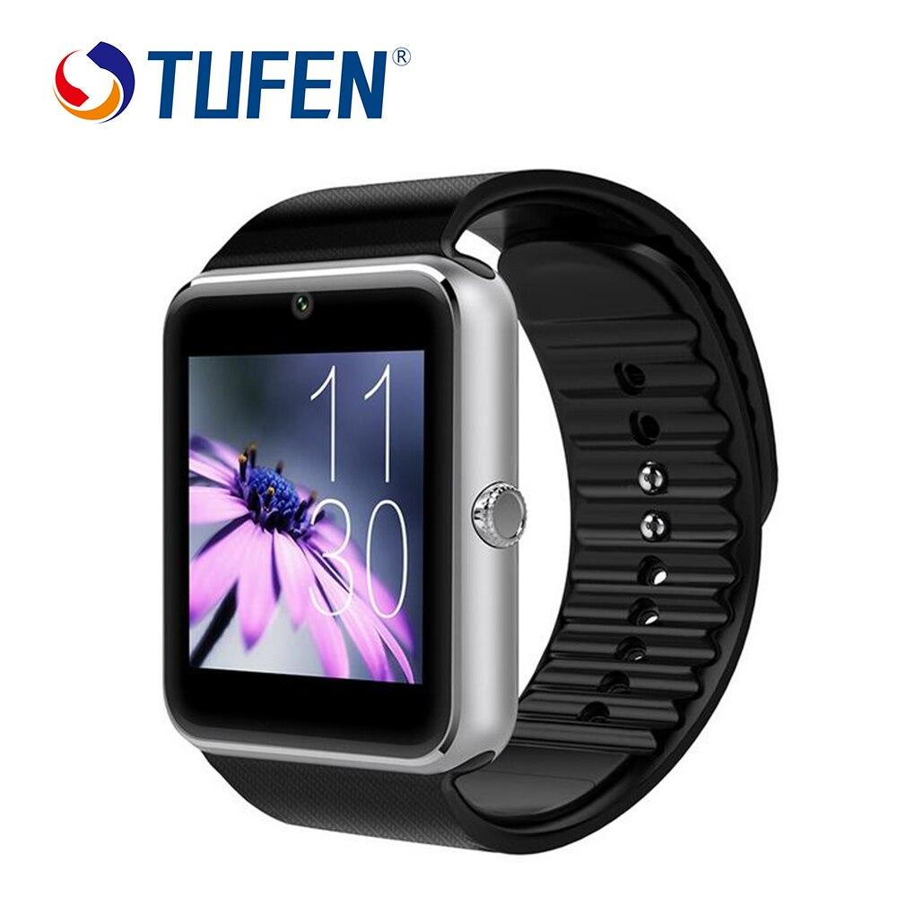 imágenes para GT08 Notificador de Sincronización Del Reloj Inteligente Tarjeta de la Ayuda Sim Conectividad Bluetooth de Apple iphone Android Teléfono Inteligente Reloj con caja al por menor