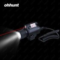 Ohhunt سريعة الإصدار 5 ميجا واط قوية التكتيكية m6 ريد دوت ليزر البصر نطاق مجموعة ل بندقية مسدس مضيا كومبو البصر