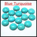 blue turquoise stone cabochon gem stone cabochon coin shape fashion jewelry making beads size 10mm 12mm 14mm 16mm 18mm