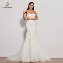 Vestido de novia sin tirantes, sirena para novia, sexy, 2020