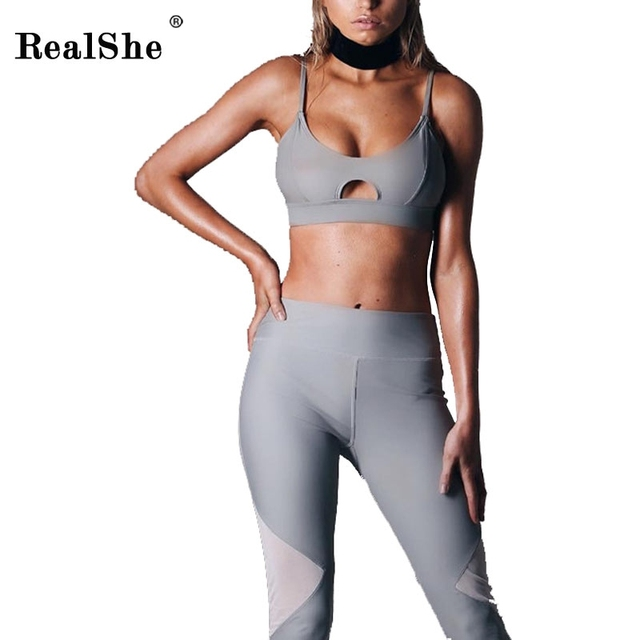 RealShe Women's Round Neck Crop Tops And Pants Set Women Sexy Sleeveless Autumn Tracksuit Plus Size Tracksuits Women's New Suit