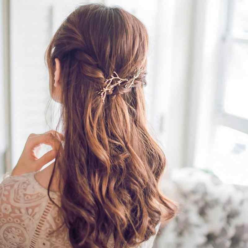 Version coréenne des ornements de cheveux cents cents bois épingle à cheveux mode personnalité princesse côté clip gros bijoux de cheveux