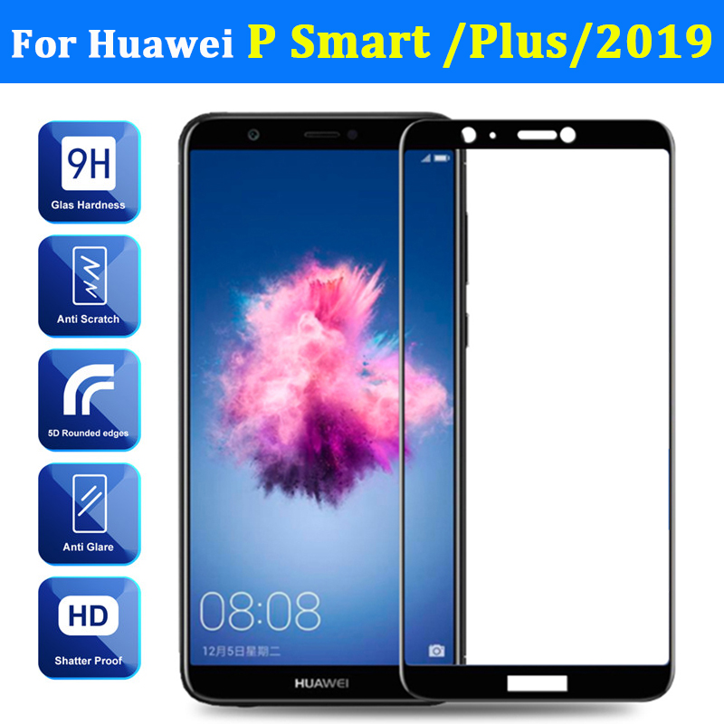 Tempered Glass On For Huawei P Smart Plus 2019 Screen Protector Psmart Smartplus Armor Huwei Huaweii Protective Full Cover Film-in Phone Screen Protectors from Cellphones & Telecommunications