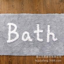 Bathroom Kitchen Hotel Pure 100% Cotton Carpet Computer Jacquard Bedroom Mat Anti-skid Cartoon Floor MATS 45X65CM European-style