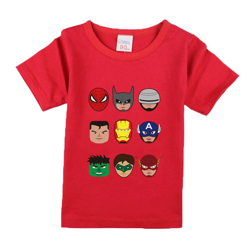 Boys girls short sleeve t shirts for children fashion Boys superhero t shirts