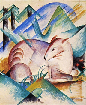 High quality Oil painting Canvas Reproductions Red Deer 1913 By Franz Marc  hand painted