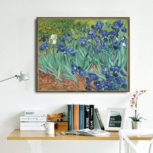 Iris Flowers by Vincent Van Gogh Poster Print Canvas Painting Calligraphy Wall Picture for Living Room Bedroom Home Decor