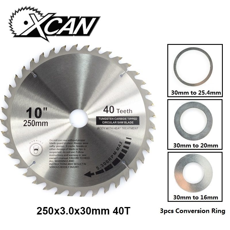 "10/"" In 225mm Woodworking Circular Saw Blade Cutting Disc Tool For Wood 40T Teeth"